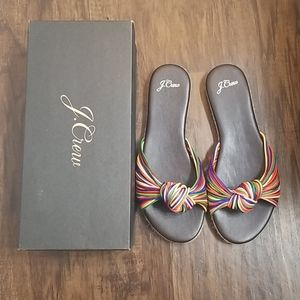 Multi Colored Knotted Sandals
